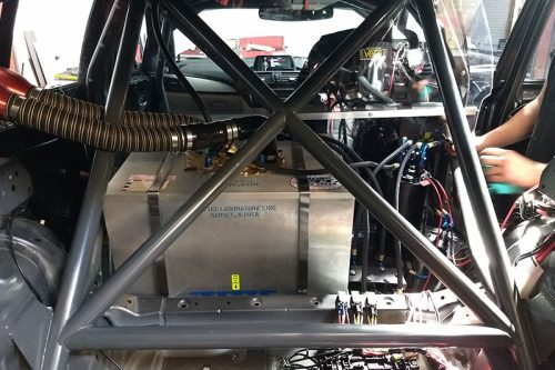 Limitless Chassis BMW M135 race car roll cage