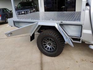 Custom aluminium Amarok tray
