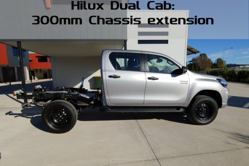 300mm extended chassis hilux