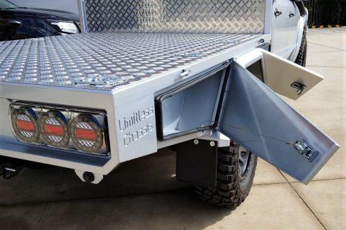 Custom alloy tray lockers